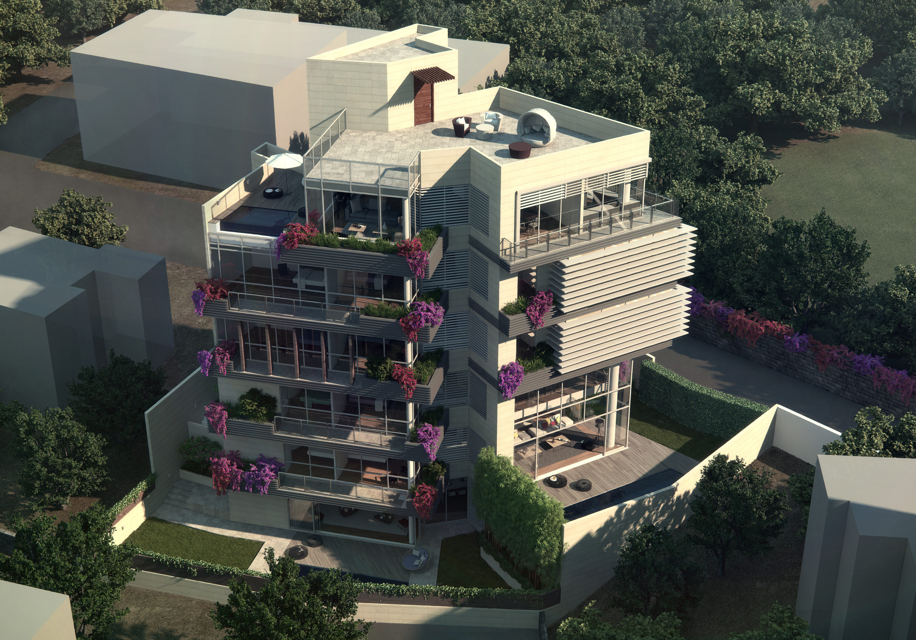 pali residences - 3 quadplex bungalows